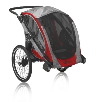 Baby Jogger POD inkl. jogginghjul och cykelset, Crimson Grey