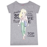 TOPModel T-Shirt, Fun & live grå