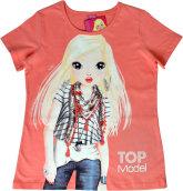 TOPModel T-Shirt, Nadja coral scarf