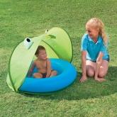 Barnpool med UV skydd, Grön/Blå