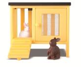 Lundby Småland kaniner + bur