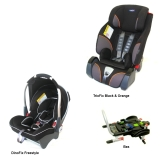 DinoFix Freestyle + TrioFix Black & Orange + Bas