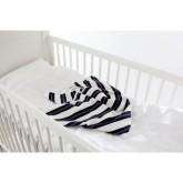 Babygreen Cool Stripe Filt, Grå/Vit