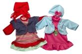 Happy Friend Dockkläder 2-pack, Jeansväst/Grodprinsessklänning
