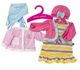 Happy Friend Dockkläder 2-pack, Rosa hästjacka/Fjärilsklänning
