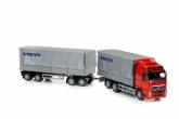 Emek Volvo transportbil med släp, Röd