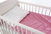 Babygreen Bäddset Chambray, Rosa