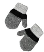 Bratten Wool Mitten, Anthracite & Black