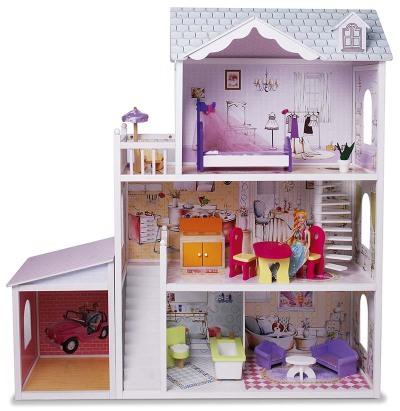 Judith dockhus med möbler