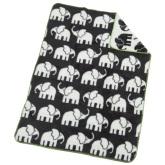 Akrylfilt Elefant, svart/vit