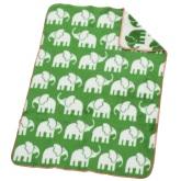 Akrylfilt Elefant, grön/vit
