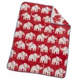 Akrylfilt Elefant, röd/vit