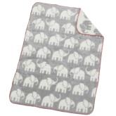 Akrylfilt Elefant, grå/vit