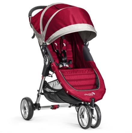 Baby Jogger City Mini Singel, Crimson/Gray