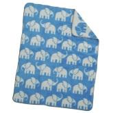 Akrylfilt Elefant, blå/vit