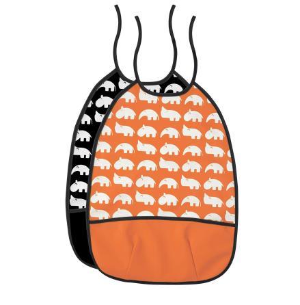Silly U Zoopreme Haklapp Orange/Svart 2-pack
