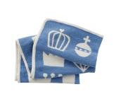 Royal Blå Chenillefilt