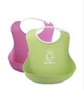 BabyBjörn Mjuk Haklapp 2-Pack Rosa/Grön