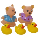 Badleksak Teddybjörnar & Ankungar 5-Delar