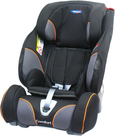 Klippan TrioFix Comfort, Black & Orange