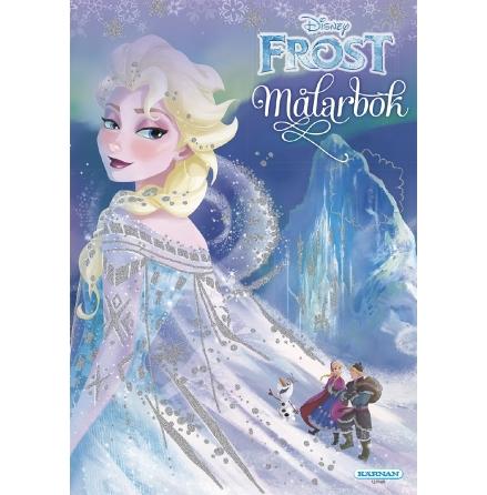 Målarbok Frost med glitter