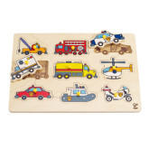 Emergency Vehicles Peg Puzzle