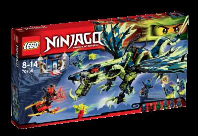 Lego Morodrakens attack