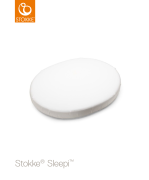 Stokke Sleepi Mini Fitted Sheet White