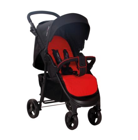 Basson Baby Barnvagn Scoop, Röd