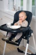 Basson Baby Matstol Bosse, Svart
