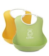 BabyBjörn Mjuk Haklapp 2-Pack Grön/Gul