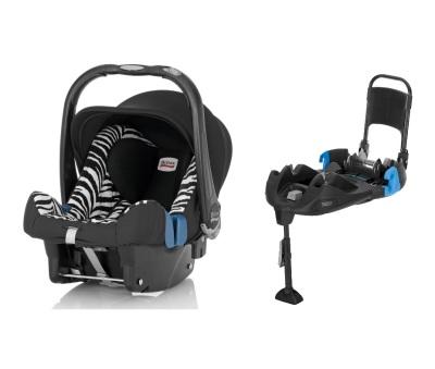Britax Baby-Safe Plus SHR II inkl. bältad bas, Smart Zebra