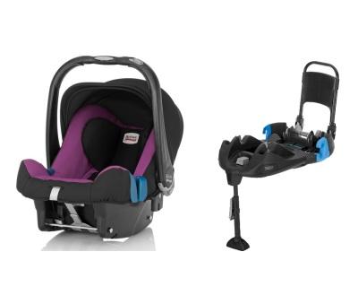 Britax Baby-Safe Plus SHR II inkl. bältad bas, Cool Berry