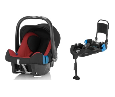 Britax Baby-Safe Plus SHR II inkl. bältad bas, Chili Pepper