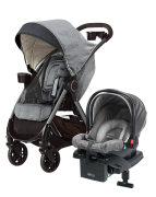 Graco Fast Action Fold DLX Resesystem, Dove Grey