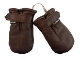 Lindberg Baby Mitten Wool Babyvante, Dark Brown Storlek: 0/0-1�r