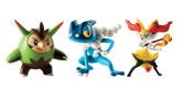 Tomy Pokémon 3-pack Quillandin, Braixen & Frogadier, Action Figurer