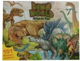 Dino World Stickers Bok