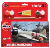 Airfix Mitsubishi A6M2b Zero 1:72, Starter Set