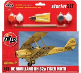 Airfix De Havilland DH.82a Tiger Moth 1:72, Starter Set