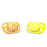 Twistshake Napp Mini 2st, 0-6m, Orange/Gul