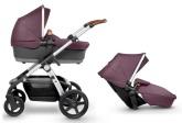 Silver Cross Wave barnvagn för 1 eller 2 barn, Claret