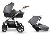Silver Cross Wave barnvagn för 1 eller 2 barn, Granite