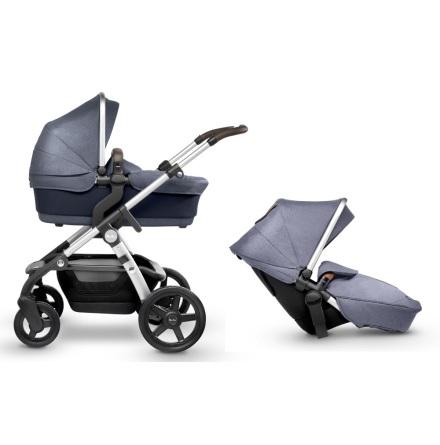 Silver Cross Wave barnvagn för 1 eller 2 barn, Midnight Blue