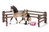 Schleich Hästskötare med Andalusisk häst