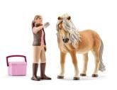 Schleich Hästskötare med islandshäst sto