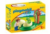 Playmobil 1.2.3 Flicka med dinosaurieägg