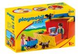 Playmobil 1.2.3 Marknadsstånd som du kan ta med dig