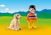 Playmobil 1.2.3 Pojke med hund