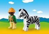Playmobil 1.2.3 Parkvakt med zebra